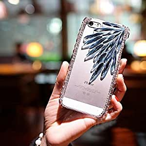 QHY 5.5 Inch Fly Birds with Diamond Hard Back Cover for iPhone 6 Plus (Assorted Colors) , Coffee