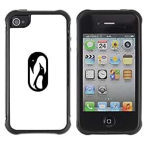 Suave TPU GEL Carcasa Funda Silicona Blando Estuche Caso de protección (para) Apple Iphone 4 / 4S / CECELL Phone case / / Penguin baby /