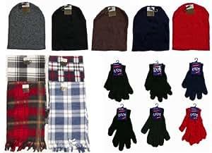 Amazon.com: Bulk Buys Winter Beanie Hats, Gloves, and