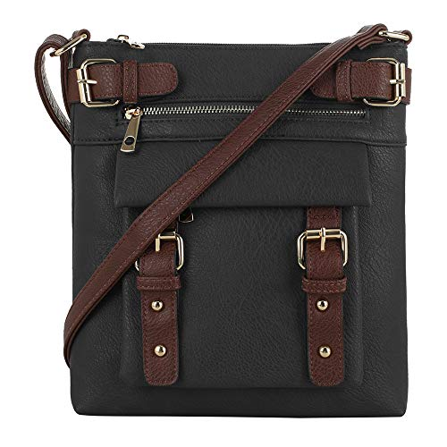 Jessie & James 2 Toned Belt Concealed Carry Crossbody Bag with Lock and Key | Black