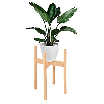 waroomss support de plante en bois stands de pot de fleur intrieur extrieur