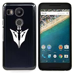 Abstract Face Caja protectora de pl??stico duro Dise?¡Àado King Case For LG Google Nexus 5X