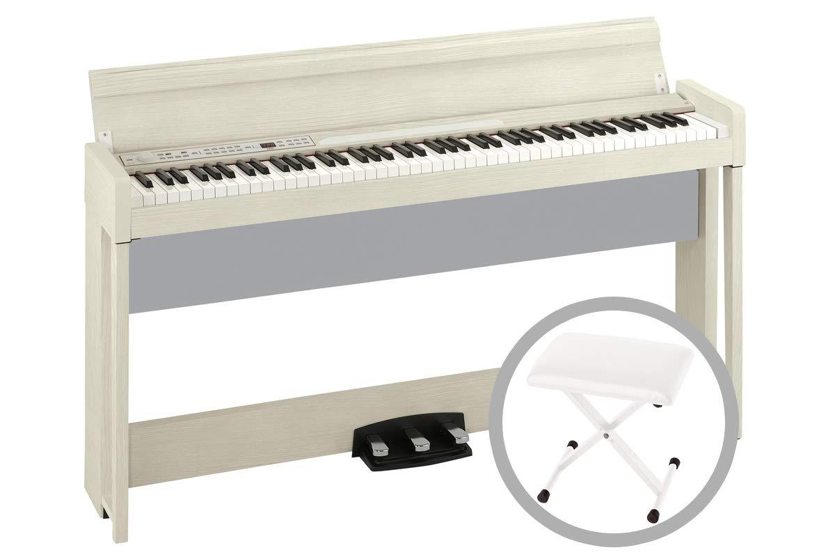 KORG コルグ / C1 Air WA (ホワイト) 【椅子セット!】デジタルピアノ   B07MGV1FZH