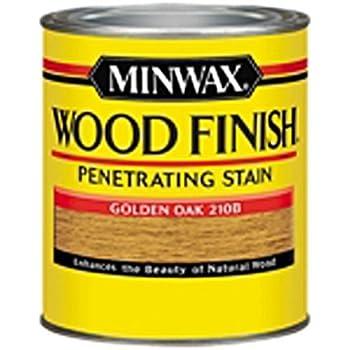 Minwax 221024444 Wood Finish Penetrating Interior Wood Stain, 1/2 pint, Golden Oak