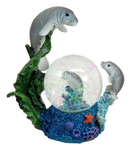 - Atlantic Collectibles Coastal Antillean Manatee Sea Cow Family Water Globe Figurine 4.25