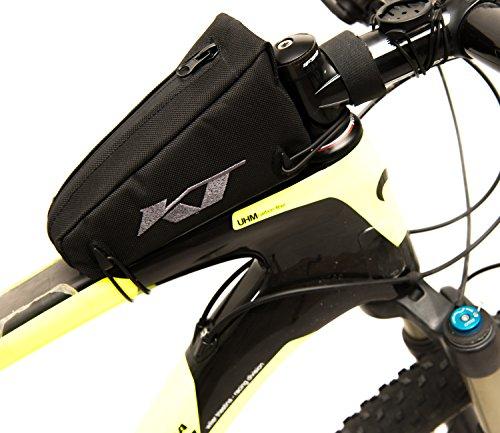 Handtasche von Rahmen für Fahrrad mit Logo Stickerei. Ideal für Fahrrad Rennrad/MTB/Mountain Bike/Fahrrad City Bike. Tasche 100% Made in Italy (Tec _ 19_ S)