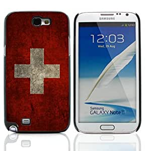 Graphic4You Vintage Swiss Flag of Switzerland Design Hard Case Cover for Samsung Galaxy Note 2 Note II
