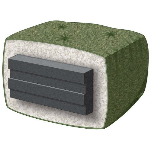 Arden Futon Set - Queen Size, Frame, Premium 8'' Mattress, Rugby Silver Cover by Nirvana Futons (Image #3)
