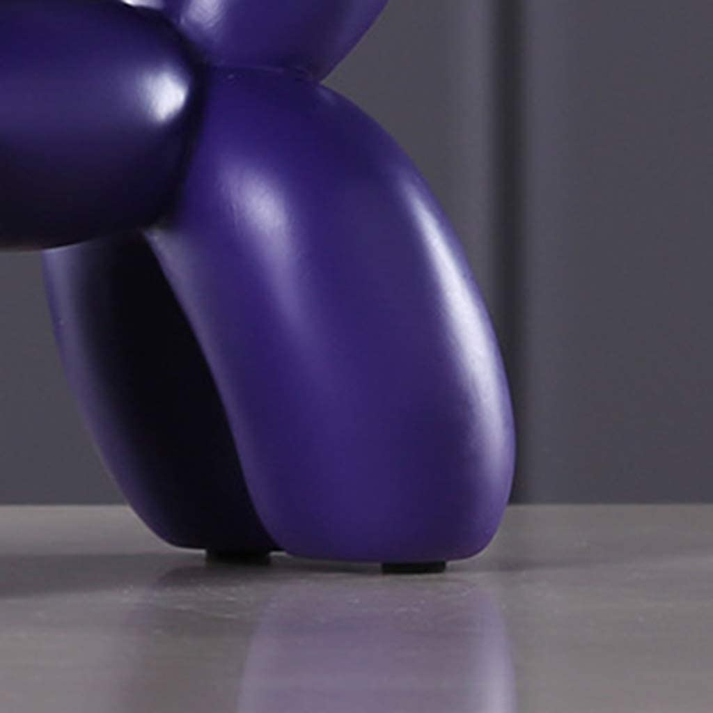 FLAMEER Finition Ballon Chien Sculpture Ballon Animal Art Rose 22x18x8,5cm