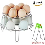 Stackable Egg Steamer Rack Set,Liferry 2PCS Vegetable Stainless Steel Stackable Egg Cooker Steam Rack for Kitchen Instant Pot and Pressure Cooker Accessories