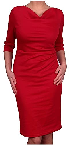 Berry Women's Business Dress 3/4 Sleeved - Waterfall - Pencil Style