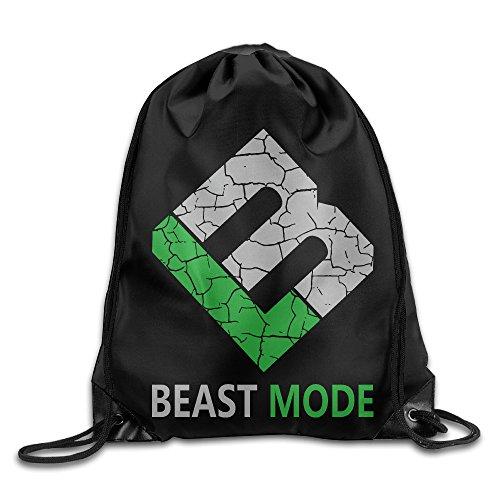 Creative Design Marshawn Lynch #24 Football Beast Mode Logo Drawstring Backpack Sport Bag For Men And Women