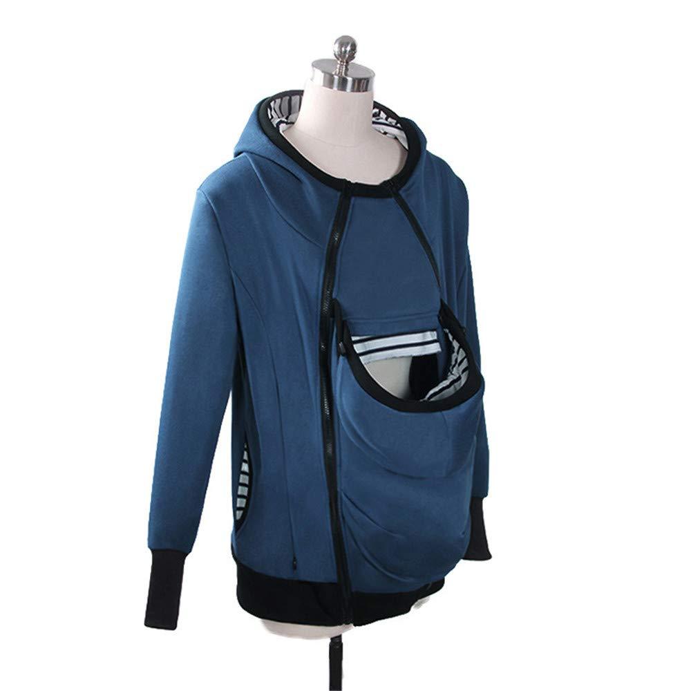 Swallowuk Baby Carrier Hoodie Damen Jacke K/änguru Mantel Tragejacke Mutterschaft Schwangere Tops Sweatshirt Langarmshirt M, Blau