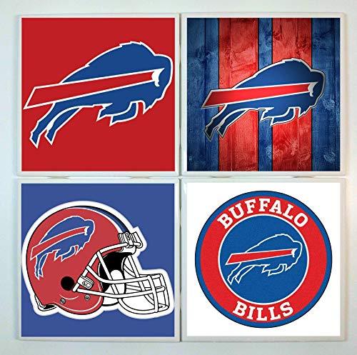 - Buffalo Bills Coasters - set of 4 tile coasters - football