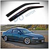 95 civic hatchback door trim - D&O MOTOR 2pcs Front Smoke Sun/Rain Guard Outside Mount Tape-On Vent Shade Window Visors For 92-95 Honda Civic 2-Door Coupe/3-Door Hatchback