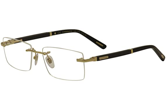 1bc4c62f02e Eyeglasses Chopard VCHB 73 Gold Black 300 at Amazon Men s Clothing ...