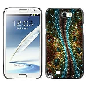 Be Good Phone Accessory // Dura Cáscara cubierta Protectora Caso Carcasa Funda de Protección para Samsung Note 2 N7100 // Magic Art Reptile Crocodile Alien Design