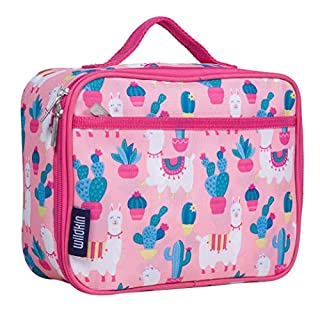 Wildkin Llama and Cactus Kids Insulated Lunch Box Bag for Boys and Girls, Perfect Size for Packing Hot or Cold Snacks for School and Travel, Mom's Choice Award Winner, One