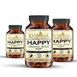 HAPPY Organic Mood Supplement – 60 Vegetarian Capsules – Feel Happy With the Power of Nature