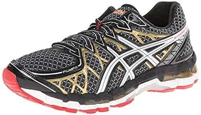 ASICS Men's Gel Kayano 20 Running Shoe,Black/White/Gold,6.5 M US