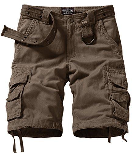 Match Men's Comfort Cargo Short (Label size XL/34 (US 32), 3056 Dark khaki)