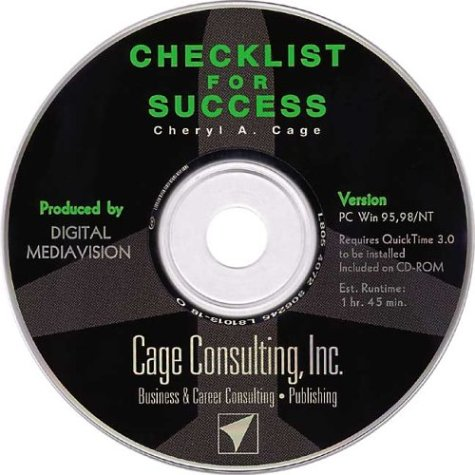 CHECKLIST Interactive CD-ROM Training Companion to the book Checklist for Success (Professional Aviation series)