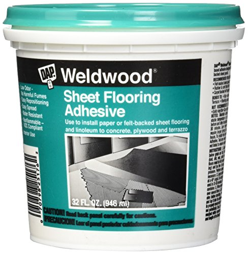 Dap 25176 Weldwood Sheet Flooring Adhesive 1-Quart (Sheet Adhesive Flooring)