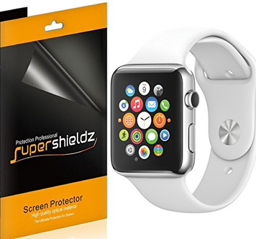 [6-Pack] Supershieldz- Anti-Glare & Anti-Fingerprint (Matte) Screen Protector Shield for Apple Watch 42mm + Lifetime Replacements Warranty - Apple Watch Sport and Apple Watch Edition (42mm ONLY)