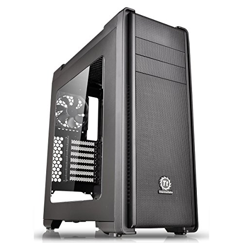 Thermaltake CA-1G8-00M1WN-00 Versa C21 Mid Tower Case with Side Window and RGB LED – Black
