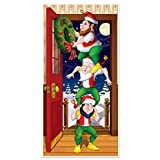 Beistle Christmas Elves Door Cover, 30-Inch x 5'
