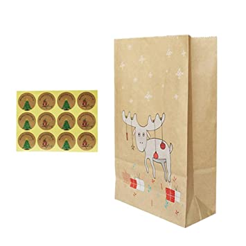 BESTONZON 12 bolsas de papel kraft para bocadillos de ...