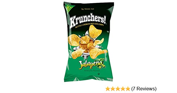Amazon com: Krunchers Jalapeno Kettle Chips, 1 87 Ounce -- 36 per case