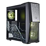 Cooler Master MasterBox MB500 TUF Gaming Alliance Edition ATX Mid-Tower with Two RGB Fans Plus RGB Controller, 4mm Tempered Glass Side Panel and Unique Front Panel Design Case