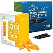 Care Touch Blood Glucose Test Strips (100 Count) with 100 30-Gauge Lancets