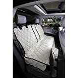 Dog Seat Cover without Hammock 60/40 fold down seat and middle seat belt capable - USA company, Bronceado, Extra grande