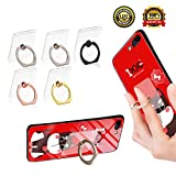 Transparent Cell Phone Ring Holder, Adjustable 360 Degree Rotation and 180°Flip Finger Ring Stand, iPhone and iPad tablet Ring Holder (5 Pack Mix color)