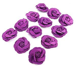 HUELE 12 PCS Artificial Rose Flowers Heads for Wedding decoration diy party festival Home Decor wreath headdress accessories 115