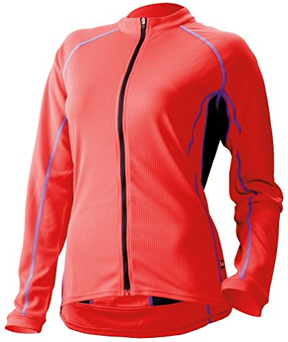 Cannondale Women s Classic Long Sleeve Jersey Small Coral Red 693cb5002