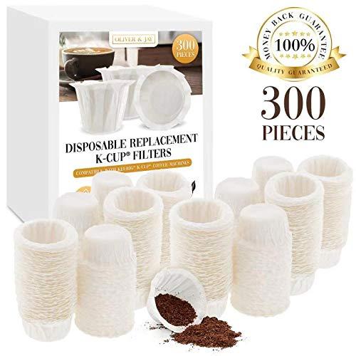 300 filtros de papel desechables K Cup para uso en cafeteras ...