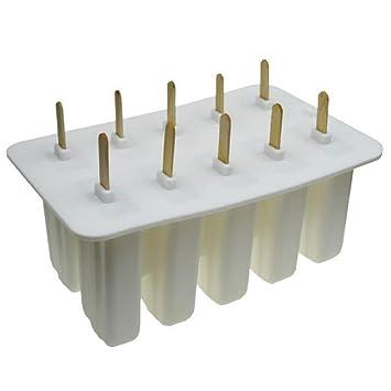Tinsay Moldes de silicona de grado alimentario – Cubito de silicona para niños de 10 celdas