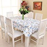 Lopkey PVC Lace Tablecloth Water and Oil Repellency Disposable Plastic Table Cloths Flower 71 x 54 Inch