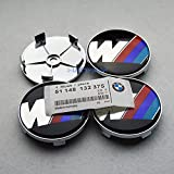 Hanway 4pcs 68mm Car Styling Accessories Emblem Badge Sticker Wheel Hub Caps Centre Cover M BMW X1 X3 X5 X6 M3 M5 M6 E46 E39 E36 E60 E34 E90 E65 E70