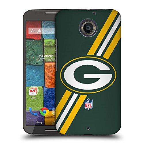Official NFL Stripes Green Bay Packers Logo Hard Back Case for Motorola Moto X (2nd Gen)