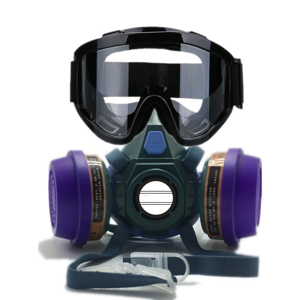 Los anteojos protectores del ojo Lentes de protección Conjunto reutilizable mascarilla respiratoria Negro Para bricolaje Laboratorio de Soldadura Molienda Ciclismo ( Color : Blue , Size : One s