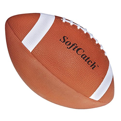 S&S Worldwide Spectrum SoftCatch Rubber Football-Youth