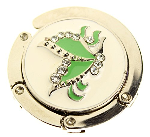 Way Huge Green (Folding Zinc Alloy Purse Hooks - Huge Variety of Styles (Green Butterfly))