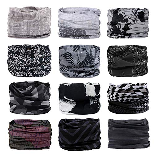f05e1eba Godspeed Headwear, Headwrap 6-Pack & 12-Pack Headband & Bandanna 16-in-1  Multifunctional Telescopic Seamless Scarf Facemask for Outdoor Leisure  Activities ...