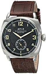 AVI-8 Men's AV-4033-04 Supermarine Seafire Analog Display Japanese Quartz Brown Watch