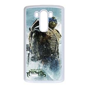 Teenage Mutant Ninja Turtles 001 funda LG G3 Cubierta blanca del teléfono celular de la cubierta del caso funda EVAXLKNBC18039