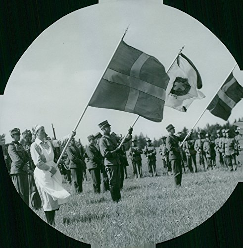 Vintage photo of Country Storm parade banner.